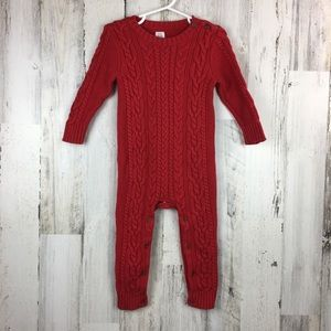 Gap | Red Knit Full Body Suit Christmas